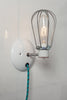 Industrial Wall Light - Wire Cage Lamp - Plug In - Industrial Light Electric - 2