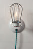 Industrial Wall Light - Wire Cage Lamp - Plug In - Industrial Light Electric - 3