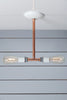 Pendant Copper Pipe Light - Double Bare Bulb Lamp - Industrial Light Electric - 2