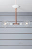 Pendant Copper Pipe Light - Double Bare Bulb Lamp - Industrial Light Electric - 6