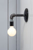 Industrial Black Pipe Wall Sconce Light - Bare Bulb Lamp - Industrial Light Electric - 5