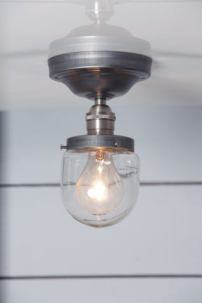 Glass Shade Beacon Light - Semi Flush Mount - Industrial Light Electric - 1