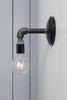 Industrial Black Pipe Wall Sconce Light - Bare Bulb Lamp - Industrial Light Electric - 7