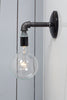 Industrial Black Pipe Wall Sconce Light - Bare Bulb Lamp - Industrial Light Electric - 1