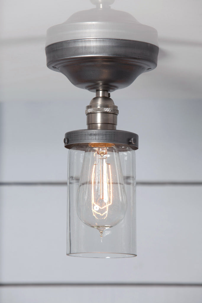 Cylinder Glass Shade Light - Semi Flush Mount - Industrial Light Electric - 1