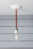Pendant Copper Pipe Light - Bare Bulb Lamp - Industrial Light Electric - 4