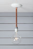 Pendant Copper Pipe Light - Bare Bulb Lamp - Industrial Light Electric - 3