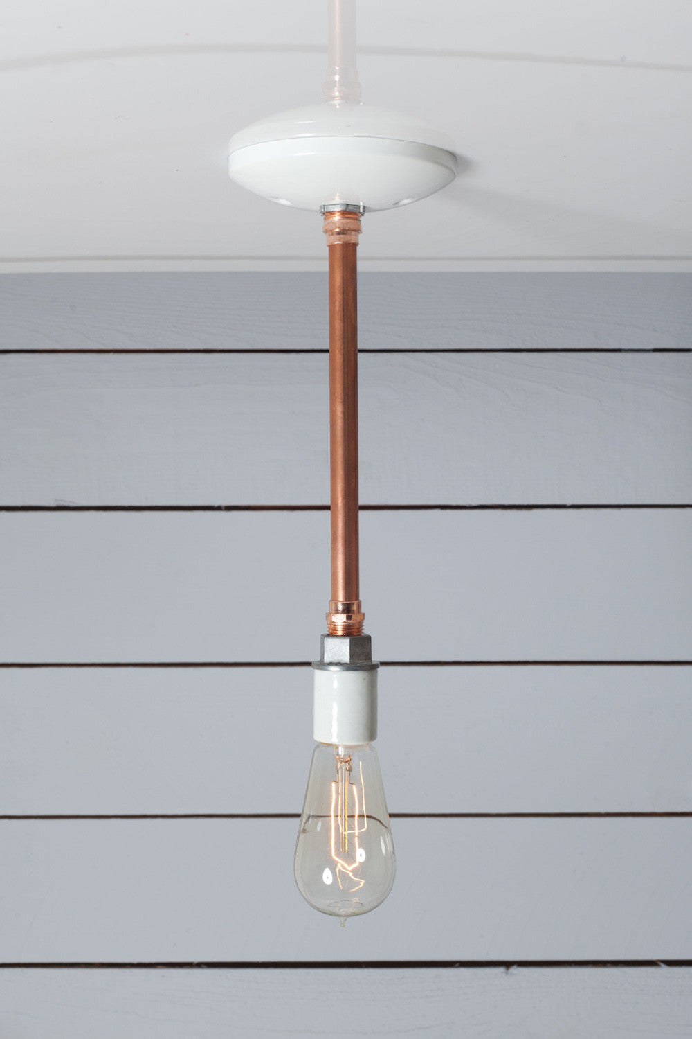 Pendant Copper Pipe Light Bare Bulb Lamp Industrial Light Electric