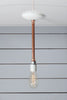 Pendant Copper Pipe Light - Bare Bulb Lamp - Industrial Light Electric - 1
