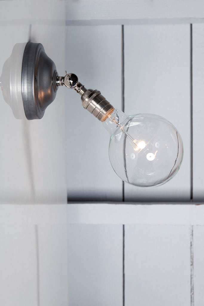 Picture of: Bare Bulb Wall Sconce Angled Lamp Industrial Light Electric
