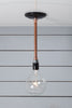 Pendant Copper Pipe Light - Bare Bulb Lamp - Industrial Light Electric - 5