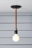 Pendant Copper Pipe Light - Bare Bulb Lamp - Industrial Light Electric - 2