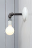 Industrial Black Pipe Wall Sconce Light - Bare Bulb Lamp - Industrial Light Electric - 2