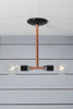 Pendant Copper Pipe Light - Double Bare Bulb Lamp - Industrial Light Electric - 5