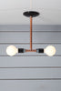 Pendant Copper Pipe Light - Double Bare Bulb Lamp - Industrial Light Electric - 4