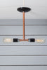 Pendant Copper Pipe Light - Double Bare Bulb Lamp - Industrial Light Electric - 3