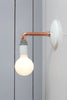 Copper Pipe Wall Sconce Light - Bare Bulb Lamp - Industrial Light Electric - 5