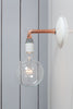 Copper Pipe Wall Sconce Light - Bare Bulb Lamp - Industrial Light Electric - 3