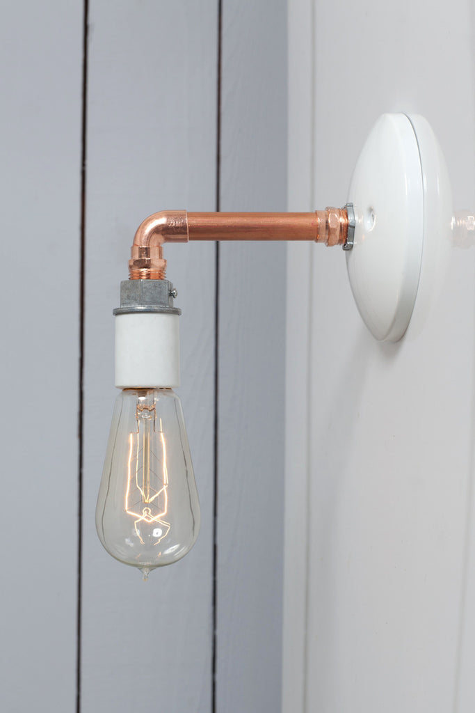 Copper Pipe Wall Sconce Light - Bare Bulb Lamp - Industrial Light Electric - 1