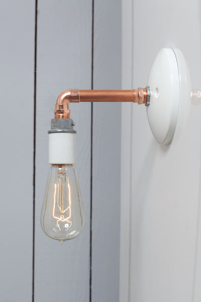Copper pipe wall sconce light bare bulb lamp from 55 00 usd industrial