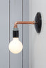 Copper Pipe Wall Sconce Light - Bare Bulb Lamp - Industrial Light Electric - 2
