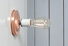 Copper Wall Mount Light - Bare Bulb - Industrial Light Electric - 7