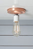 Copper Ceiling Mount Light - Bare Bulb - Industrial Light Electric - 7