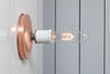 Copper Wall Mount Light - Bare Bulb - Industrial Light Electric - 6