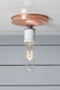 Copper Ceiling Mount Light - Bare Bulb - Industrial Light Electric - 5