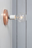 Copper Wall Mount Light - Bare Bulb - Industrial Light Electric - 5