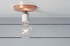 Copper Ceiling Mount Light - Bare Bulb - Industrial Light Electric - 3