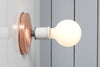 Copper Wall Mount Light - Bare Bulb - Industrial Light Electric - 4