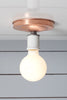 Copper Ceiling Mount Light - Bare Bulb - Industrial Light Electric - 2