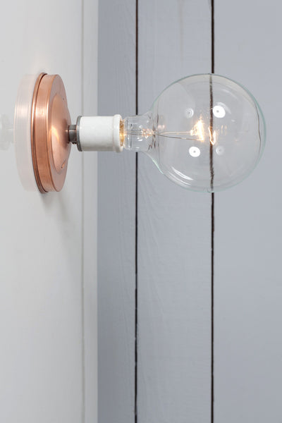 Copper Wall Mount Light - Bare Bulb - Industrial Light Electric - 1