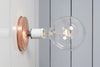 Copper Wall Mount Light - Bare Bulb - Industrial Light Electric - 3