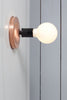 Copper Wall Mount Light - Bare Bulb - Industrial Light Electric - 2