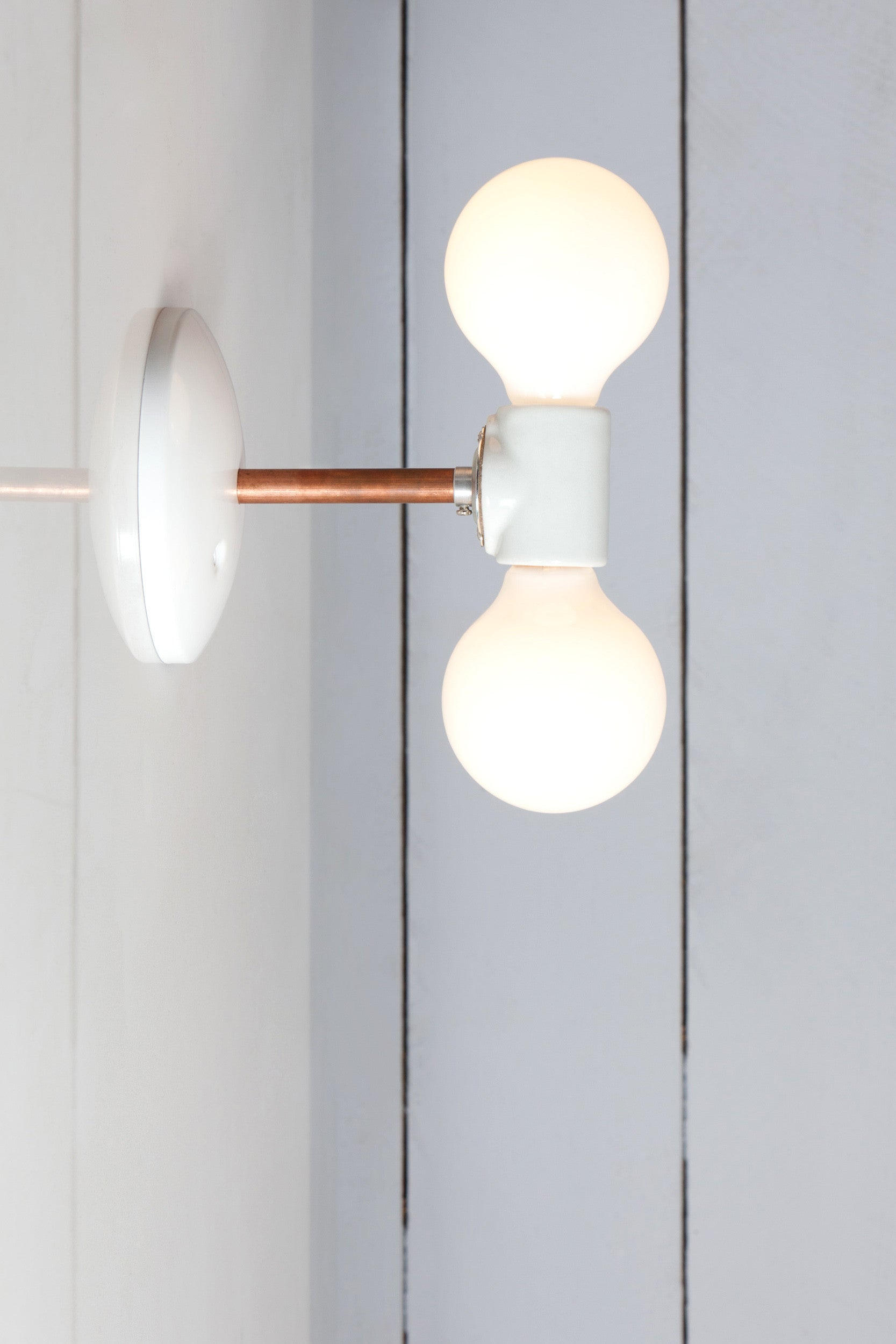 Double Copper Wall Sconce Light Bare Bulb Lamp Industrial Light Electric