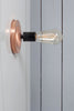 Copper Wall Mount Light - Bare Bulb - Industrial Light Electric - 8