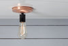 Copper Ceiling Mount Light - Bare Bulb - Industrial Light Electric - 4
