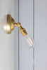 Vintage Adjustable Wall Sconce Light - Brass