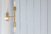 Brass Double Bare Bulb Sconce Light