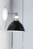Black and White Dome Shade Wall Sconce Light