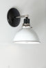 White Shade Farmhouse Wall Sconce Light