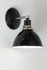 Black Enamel Shade Wall Sconce Light - Industrial
