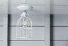 White Cage Light - Ceiling Mount - Industrial Lighting - Industrial Light Electric - 3