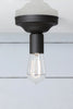 Matte Flat Black Ceiling Light - Vintage Lighting