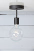 Semi Flush Mount Ceiling Light - Matte Flat Black
