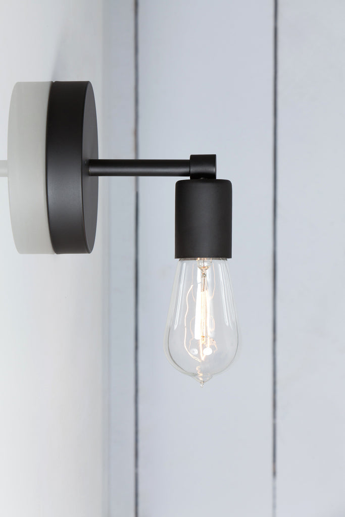 Matte Flat Black Sconce Wall Light Industrial Light Electric