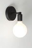 Mid Century Matte Flat Black Sconce - Wall Light