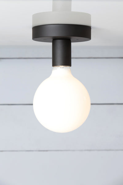 Industrial ceiling light industrial light electric matte flat black ceiling light bare bulb aloadofball Gallery